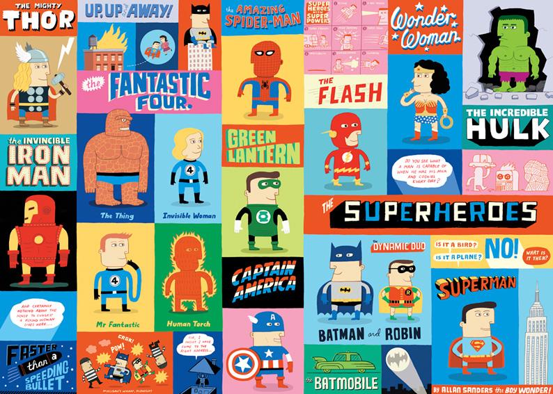 Super heros loopland