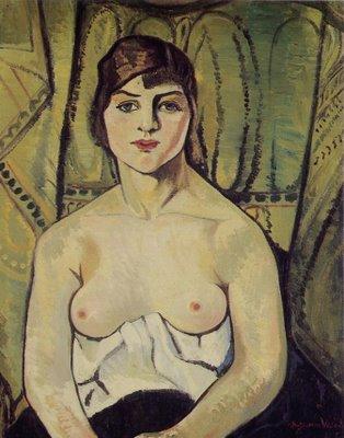 Suzanne+VALADON+Femme+aux+seins+nus+1917
