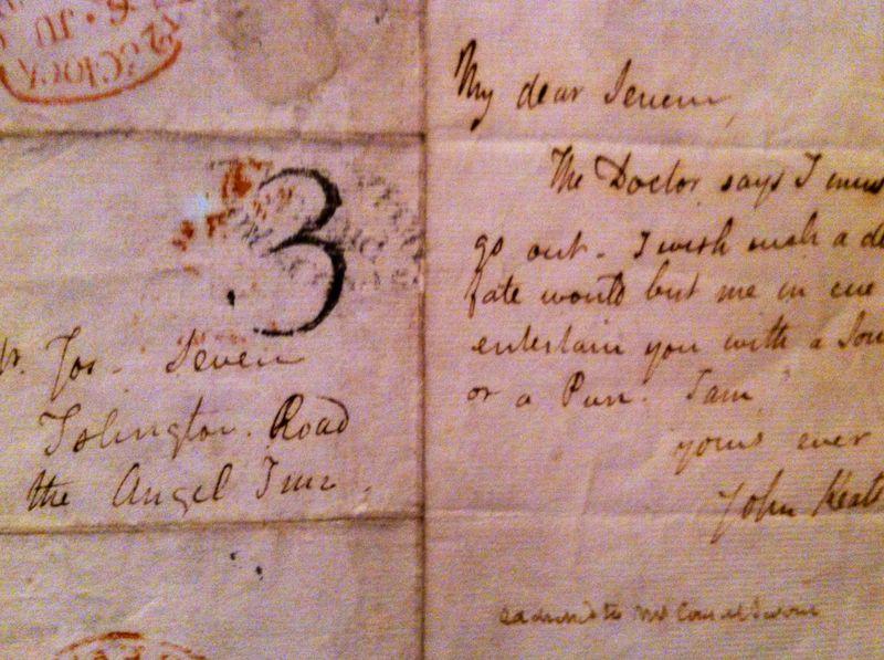 Manuscrit Keats recadré