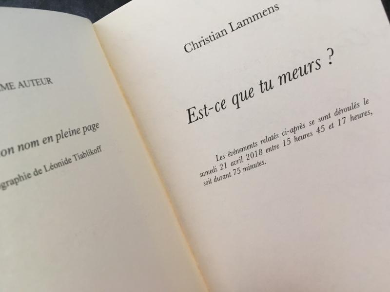 Est-ce que tu meurs de Christian Lammens