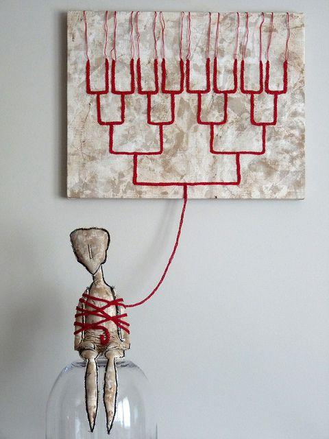 Sculpture textile de Catherine Rosselle